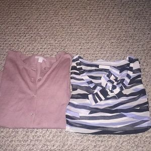 Two New York and company shirts size large